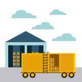 Diseño de la importación y de la exportación Fotografía de archivo libre de regalías