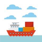 Diseño de la importación y de la exportación Foto de archivo