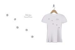 Diseño de la impresión de la camiseta de los agujeros de bala Modelo del vector stock de ilustración