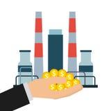 Diseño de la industria de petróleo Imágenes de archivo libres de regalías