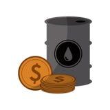 Diseño de la industria de petróleo Imagen de archivo