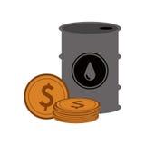 Diseño de la industria de petróleo Foto de archivo libre de regalías