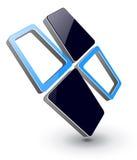 Diseño de la insignia 3D. Imágenes de archivo libres de regalías