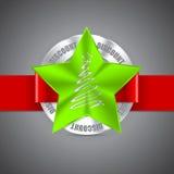 Diseño de la insignia de la Navidad Fotos de archivo