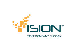 Diseño de la insignia de la tecnología Imagenes de archivo