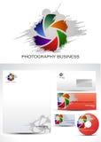 Diseño de la insignia del modelo de la fotografía Imagen de archivo libre de regalías