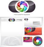Diseño de la insignia del modelo de la fotografía Foto de archivo libre de regalías