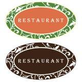 Diseño de la insignia del restaurante Fotografía de archivo
