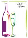 Diseño de la insignia del vino ilustración del vector