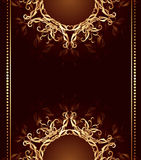 Diseño de la joyería en un fondo del marrón oscuro stock de ilustración