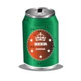 Diseño de la lata de cerveza Fotografía de archivo