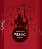 Diseño de la lista de vino Fotografía de archivo libre de regalías