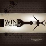 Diseño de la lista de vino Imagen de archivo libre de regalías