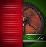 Diseño de la lista de vino Imagenes de archivo