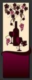 Diseño de la lista de vino Extracto de la vid Vector Fotos de archivo