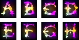 Diseño de la luz del alfabeto, parte 1 Imagen de archivo