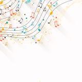 Diseño de la música Foto de archivo