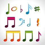Diseño de la música Imagen de archivo