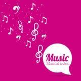 Diseño de la música Fotografía de archivo libre de regalías