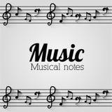 Diseño de la música Fotos de archivo
