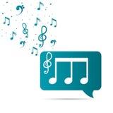 Diseño de la música Imagenes de archivo