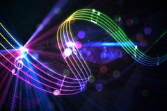 Diseño de la música de Digitaces Foto de archivo libre de regalías