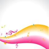 Diseño de la música del vector Fotografía de archivo libre de regalías