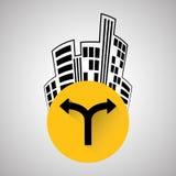 Diseño de la manera, calle y concepto de la señal de tráfico, vector editable Imagenes de archivo