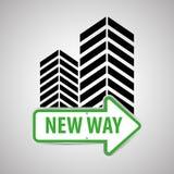Diseño de la manera, calle y concepto de la señal de tráfico, vector editable Foto de archivo