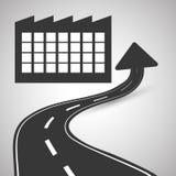 Diseño de la manera, calle y concepto de la señal de tráfico, vector editable Fotos de archivo libres de regalías