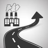 Diseño de la manera, calle y concepto de la señal de tráfico, vector editable Foto de archivo libre de regalías