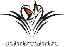 Diseño de la mariposa Foto de archivo