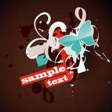 Diseño de la mariposa del vector Imagen de archivo libre de regalías