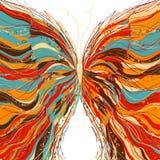Diseño de la mariposa del vector en un fondo blanco Foto de archivo