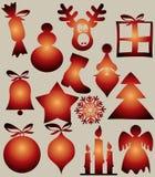 Diseño de la Navidad del vector Imágenes de archivo libres de regalías