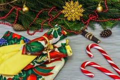 Diseño de la Navidad Fondo con los regalos, la Navidad diciembre de la Navidad Foto de archivo