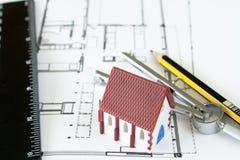 Diseño de la nueva casa Fotos de archivo