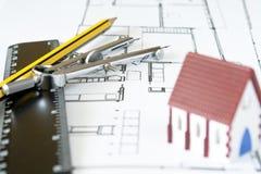 Diseño de la nueva casa Foto de archivo