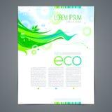 Diseño de la página de la plantilla de Eco Fotos de archivo