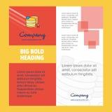 Diseño de la página de título del folleto de Database Company r libre illustration