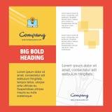 Diseño de la página de título del folleto de Laptop Company r ilustración del vector