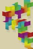 Diseño de la paginación del rectángulo del espectro Fotos de archivo libres de regalías