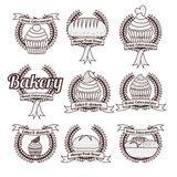 Diseño de la panadería Fotografía de archivo libre de regalías