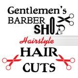 Diseño de la peluquería de caballeros libre illustration