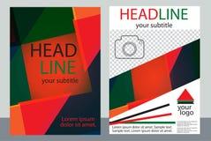 Diseño de la plantilla de folletos con el lugar para su foto Una muestra Fotos de archivo libres de regalías