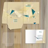 Diseño de la plantilla de la carpeta Fotos de archivo libres de regalías