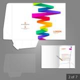 Diseño de la plantilla de la carpeta Fotografía de archivo libre de regalías