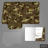 Diseño de la plantilla de la carpeta Imagen de archivo libre de regalías