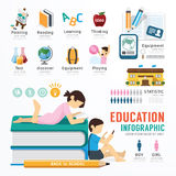 Diseño de la plantilla de la educación de Infographic vector del concepto Foto de archivo libre de regalías