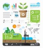 Diseño de la plantilla de la energía de Infographic vector del concepto stock de ilustración